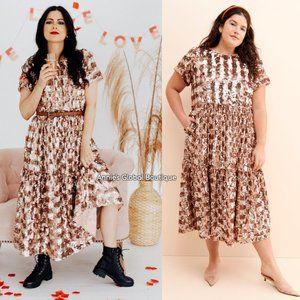 NWT ANTHROPOLOGIE Bernadette Sequined Midi Dress